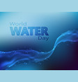 world water day postcard vector image