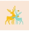 two colored deer vector image