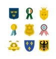 emblem icon set flat style vector image