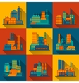 Industrial building icons set vector image