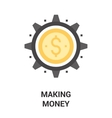 making money icon concept vector image