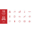 15 life icons vector image vector image