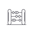 abacus line icon concept abacus linear vector image