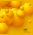 abstract floating spheres background vector image vector image