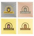 assembly flat shading style icons monkey logo vector image vector image