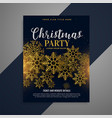 awesome christmas flyer brochure with golden vector image