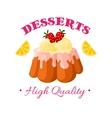 Bakery shop pastry patisserie dessert icon vector image