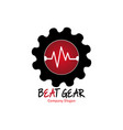 beat gear for company vector image vector image