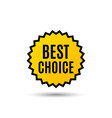 best choice special offer sale sign vector image vector image