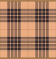 black beige tartan plaid seamless pattern vector image vector image