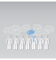 Business news team leader teamwork communication vector image