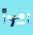 business people holding blank speech communication vector image vector image
