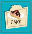 cake slice dessert isolated vector image vector image