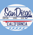 California San Diego typography t-shirt Printing vector image