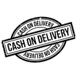 Cash On Delivery rubber stamp vector image