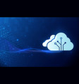 cloud computing technology internet big data vector image vector image