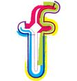 Colorful Grunge font letter f vector image vector image