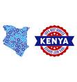 composition kenya map of repair tools vector image
