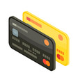 credit card icon isometric style vector image vector image