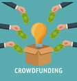 crowfunding and business vector image
