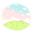 cute Idyllic landscape background vector image vector image