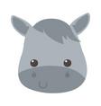 cute little horse face animal cartoon isolated vector image