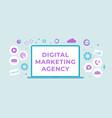 digital marketing agency flat business vector image vector image
