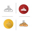 dinner rolls icon vector image vector image
