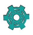 drawing gear wheel engine cog icon vector image vector image