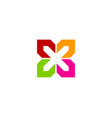 Flower letter x logo icon design