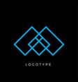 geometric shape letter m line monogram vector image