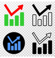 graph chart eps icon with contour version vector image vector image