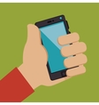 hand user smartphone isolated vector image vector image