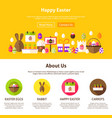 happy easter web design vector image vector image
