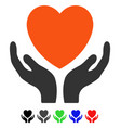 heart care flat icon vector image
