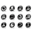 Information graphic icons vector image vector image
