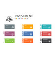 investment infographic 10 option line concept vector image vector image