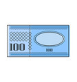 isolated currency bill icon vector image vector image