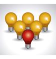 Light bulb design vector image