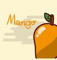 mango fruit delicious shiny poster vector image vector image