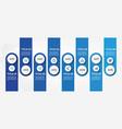modern business horizontal timeline process chart vector image vector image