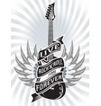 monochrome with guitar tape and text vector image vector image
