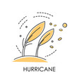 natural disaster hurricane on coast wind storm vector image