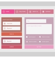 New web forms components vector image vector image
