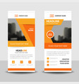 orange abstract business rollup banner flat design vector image vector image