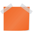 orange post it vector image vector image