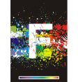 paint splashes font vector image