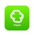 pepper icon green vector image vector image