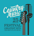 poster for country music festival with guitar and vector image vector image