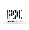 px p x lines letter design with creative elegant vector image vector image